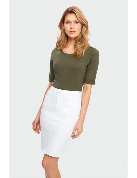 Biała ołówkowa spódnica damska