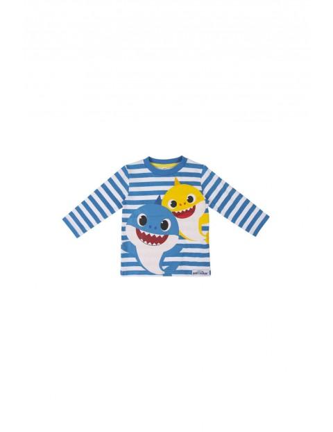 Bluzka chłopięca  z rekinami - niebieska