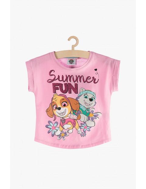 Psi Patrol t-shirt dziewczęcy - różowy