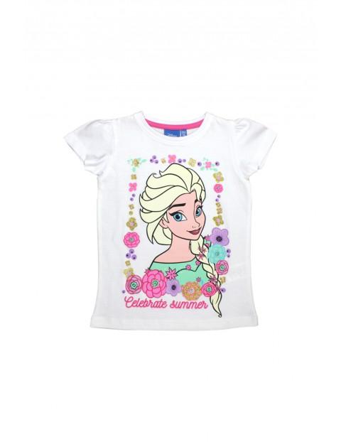 T-shirt dziewczęcy Kraina Lodu 3I34DQ