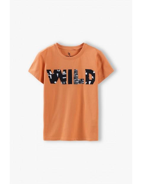 T-shirt dla chłopca- pomarańczowy Wild