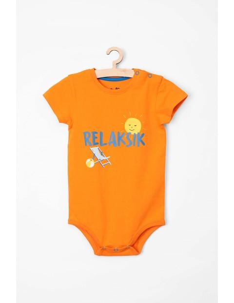 """Body niemowlęce z krótkim rękawem """"Relaksik"""""""