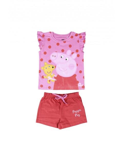 Piżama dziewczęca z krótkim rękawem Świnka Peppa