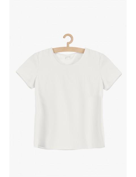 Biala bluzka damska- krótki rękaw