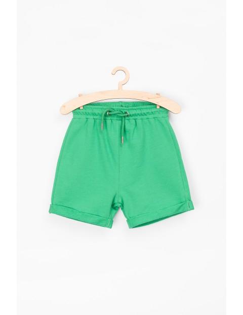 Szorty bawełniane dla niemowlaka-zielone