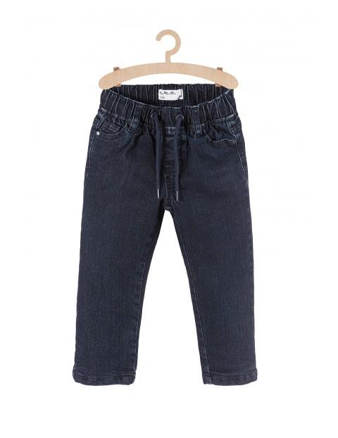 Spodnie chłopięce jeansowe z podszewką