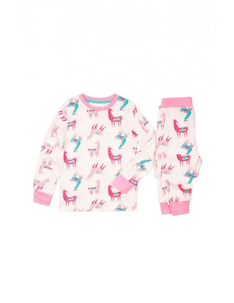 Pidżama dziewczęca różowa - Alpaki