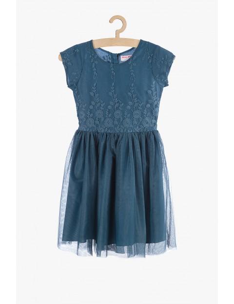 Sukienka dziewczęca niebieska- tiulowa