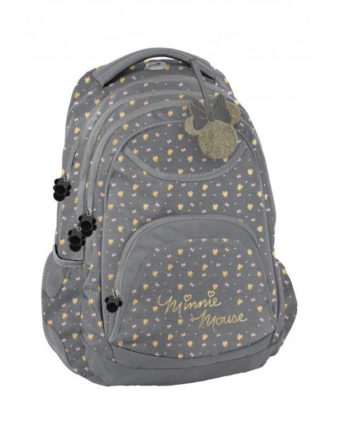 Plecak szkolny 3 komorowy Myszka Minnie - elementy odblaskowe