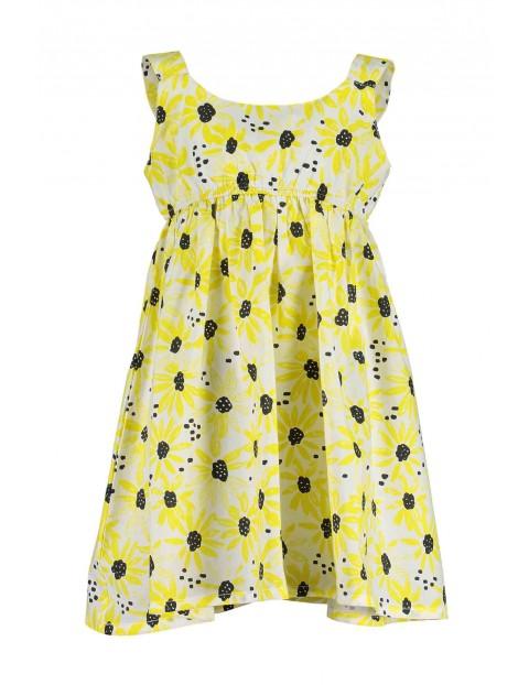 Sukienka na lato w żółte kwiaty