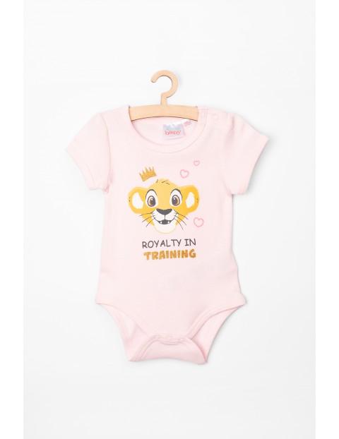 Body niemowlęce różowe Król Lew