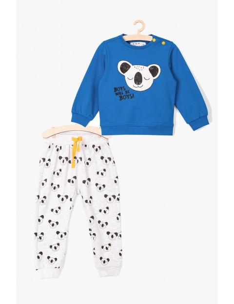 Komplet bluza i spodnie dresowe w pandy