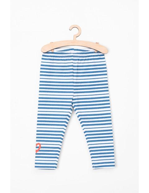 Legginsy niemowlęce niebieskie w paski