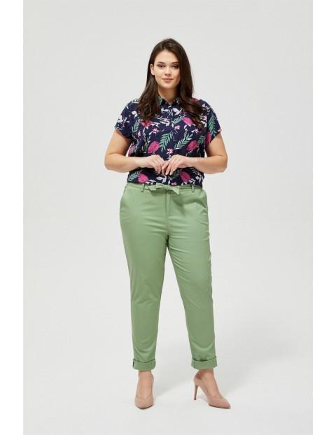 Spodnie damskie typu chinos- khaki