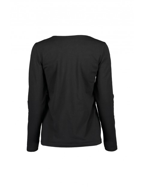 Czarna bluzka damska z napisami