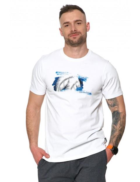 T-shirt męski z wakacyjnym nadrukiem