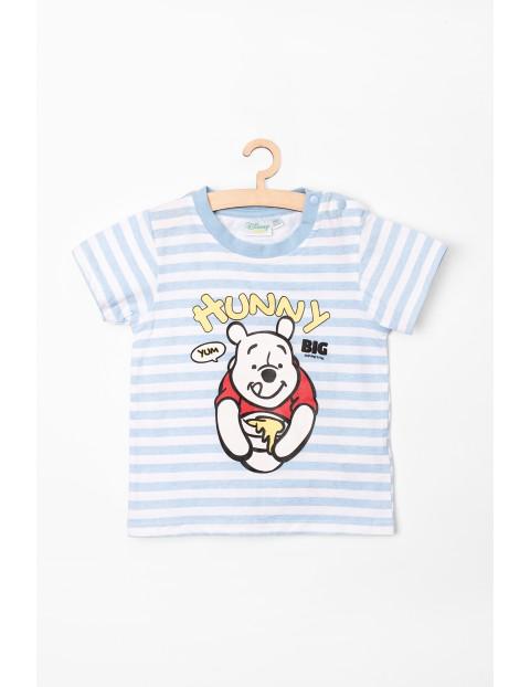 T-Shirt niemowlęcy w paski Kubuś Puchatek
