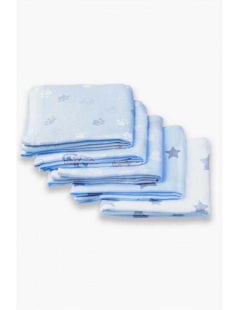 Bawełniane pieluchy z tetry niebieskie 5pak