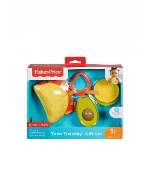 Taco - sensoryczny zestaw zawieszek Fisher Price 3msc+
