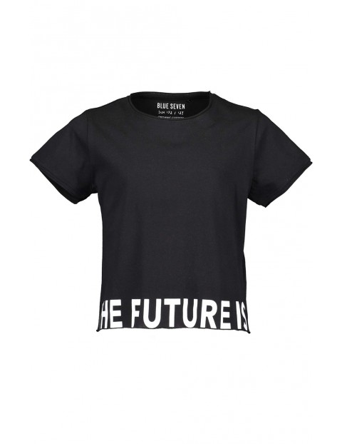Koszulka dziewczęca czarna z napisem