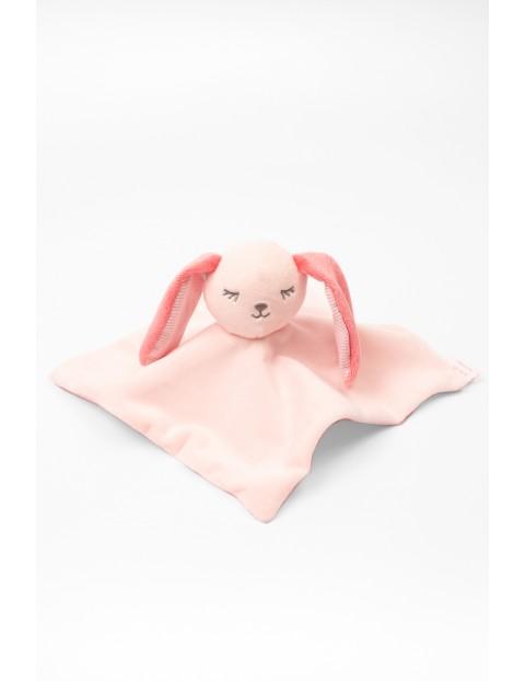 Przytulanka niemowlęca różowy królik