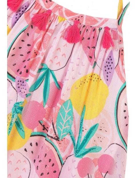 Kolorowa sukienka na cienkie ramiączka