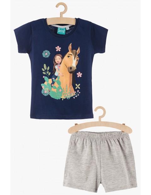 Pidżama dziewczęca Spirit granatowo-szara
