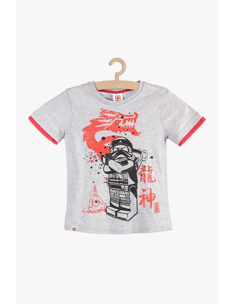 T-Shirt chłopięcy Lego Ninjago szary rozm 140
