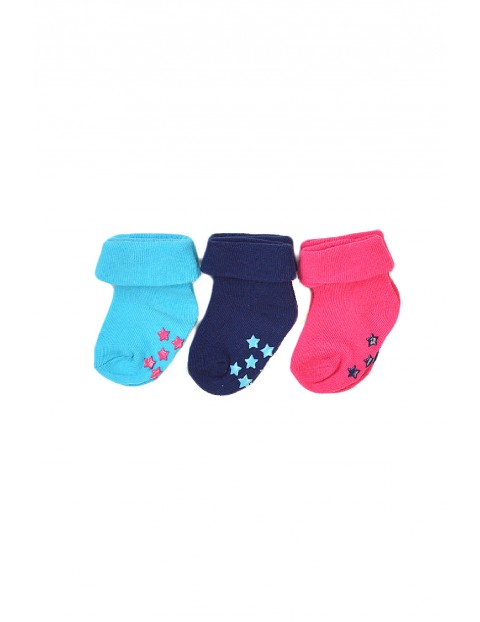 Skarpetki niemowlęce z ABS 3-pak