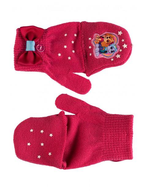 Rękawiczki dziewczęce Psi Patrol- różowe