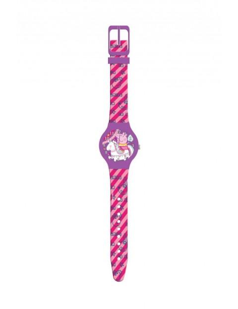 Zegarek analogowy w pudełku Świnka Peppa