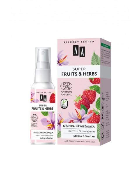 AA Super Fruits&Herbs mgiełka nawilżająca detox + odświeżenie NATURAL 50 ml
