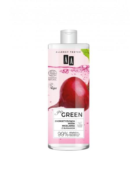 AA Go Green energetyzująca woda micelarna z burakiem NATURAL 400 ml