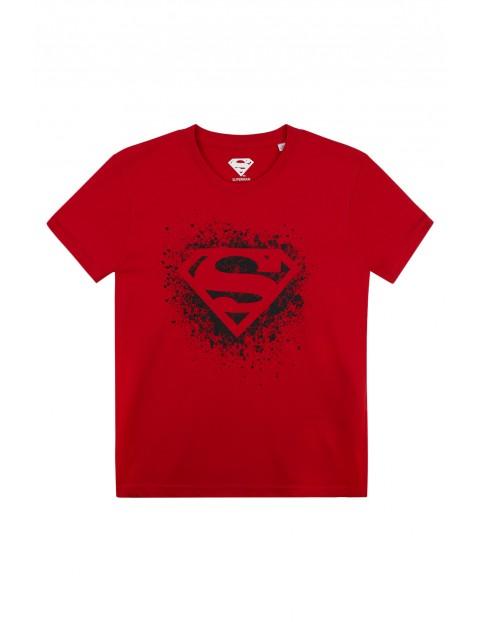 Koszulka chłopięca Superman- czerwona