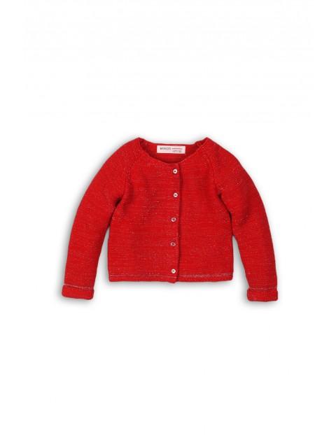 Sweter dziewczęcy rozpinany czerwony