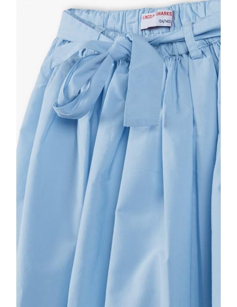 Spódnica dziecięca z ozdobną kokardą - niebieska