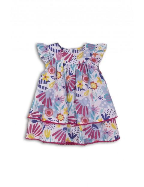 Sukienka niemowlęca warstwowa z majtkami