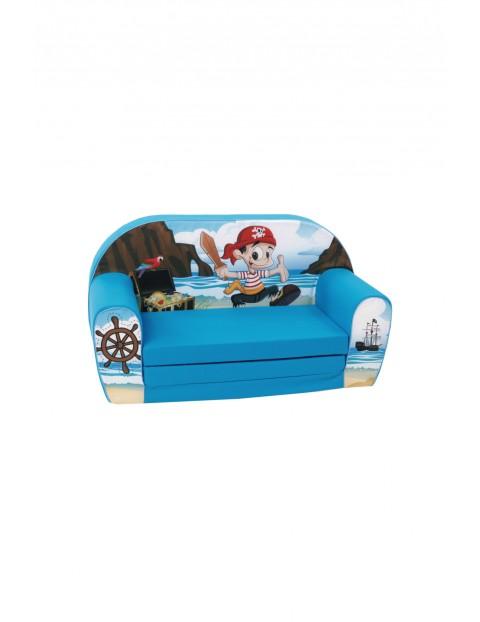 Rozkładana sofa piankowa dla chłopca Delsit Pirat