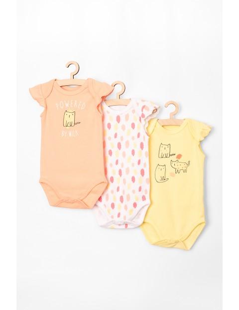 Body niemowlęce bawełniane 3-pak