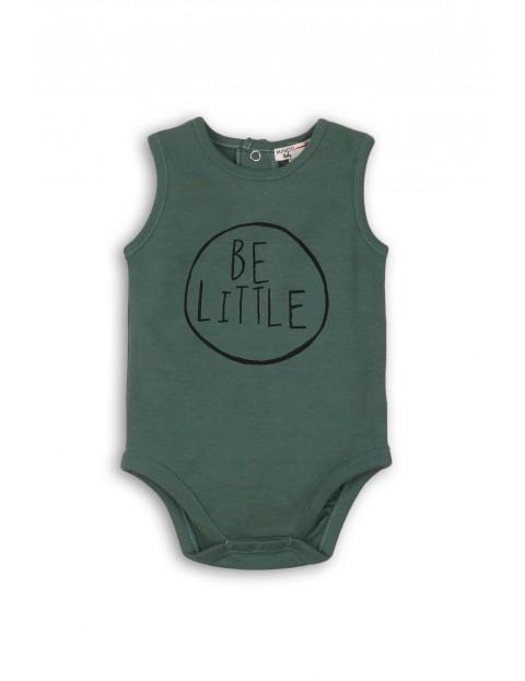 Body niemowlece zielone na ramiączka - Be Little