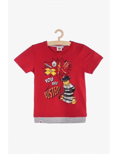 T-shirt chłopięcy czerwony Lego rozm 140