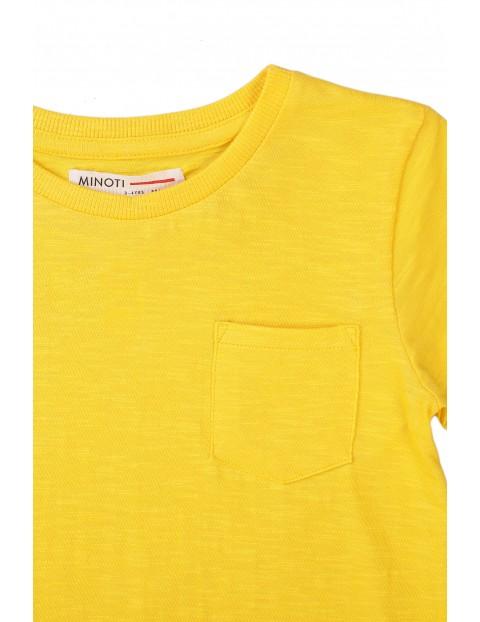 Bawełniany T-shirt niemowlęcy żółty