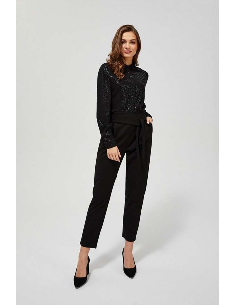 Koszulka damska czarna z wiskozy