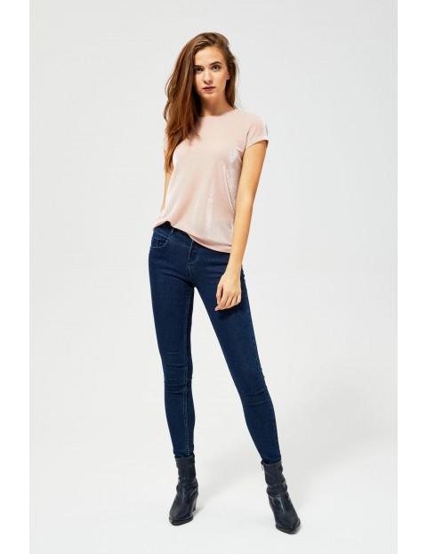 Bluzka połyskująca  - różowa