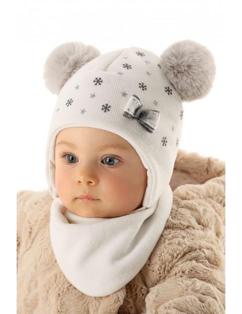 Czapka wiązana dla niemowlaka 5X35AC