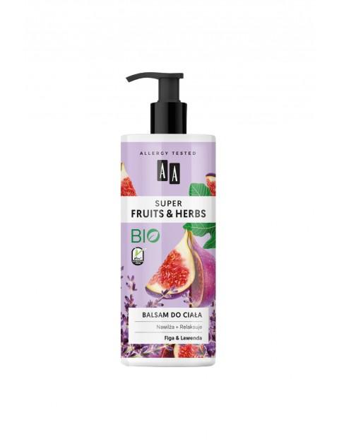 AA Super Fruits&Herbs balsam do ciała figa&lawenda 500 ml
