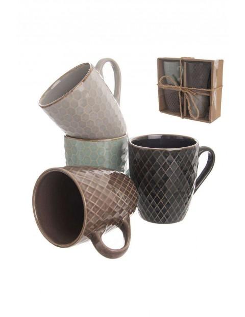 Zestaw kubków ceramicznych 4szt- 250 ml