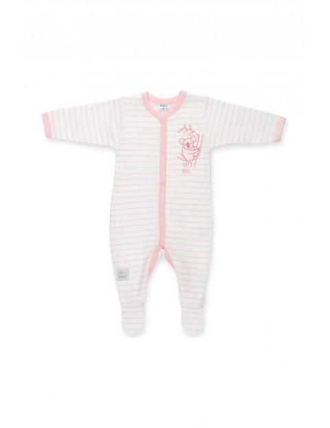 Pajac dla noworodka Happy Kids różowy