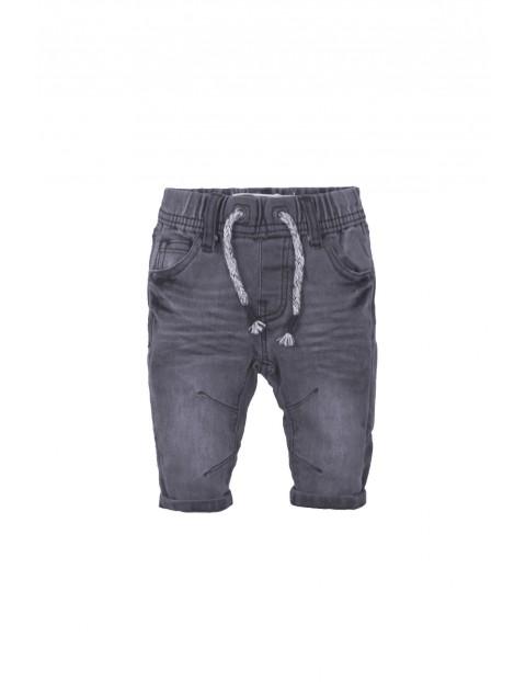 Spodnie niemowlęce jeansowe - szare