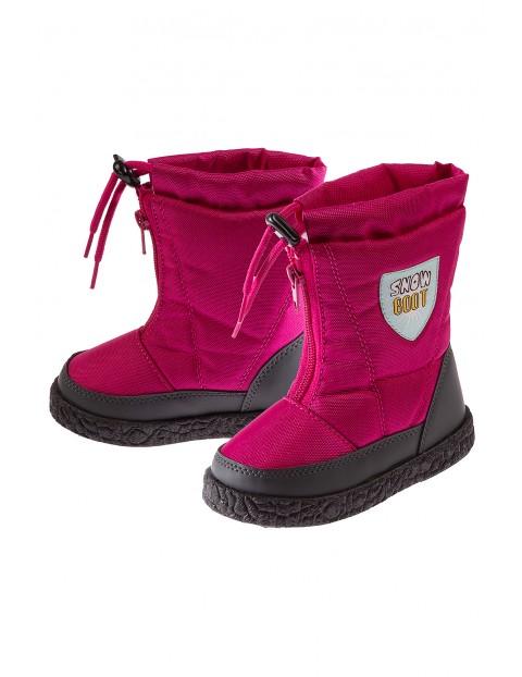 Śniegowce różowe dla dziewczynki 3Z3519